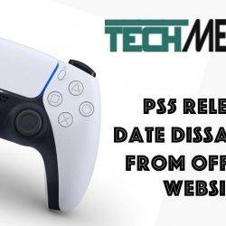 PS5 Release Date Disappears from the Official Website